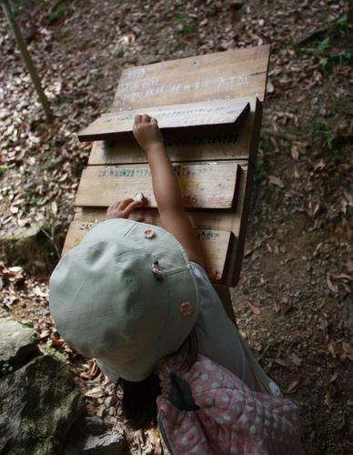嵐山モンキーパークいわたやま クイズ板